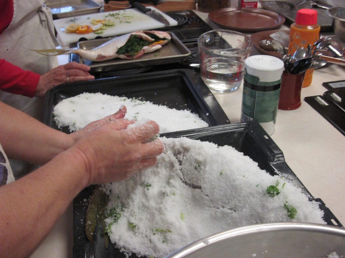 Ask Chef Christy encrusting fish in salt