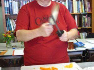 Ask Chef Christy teaching Knife Skills