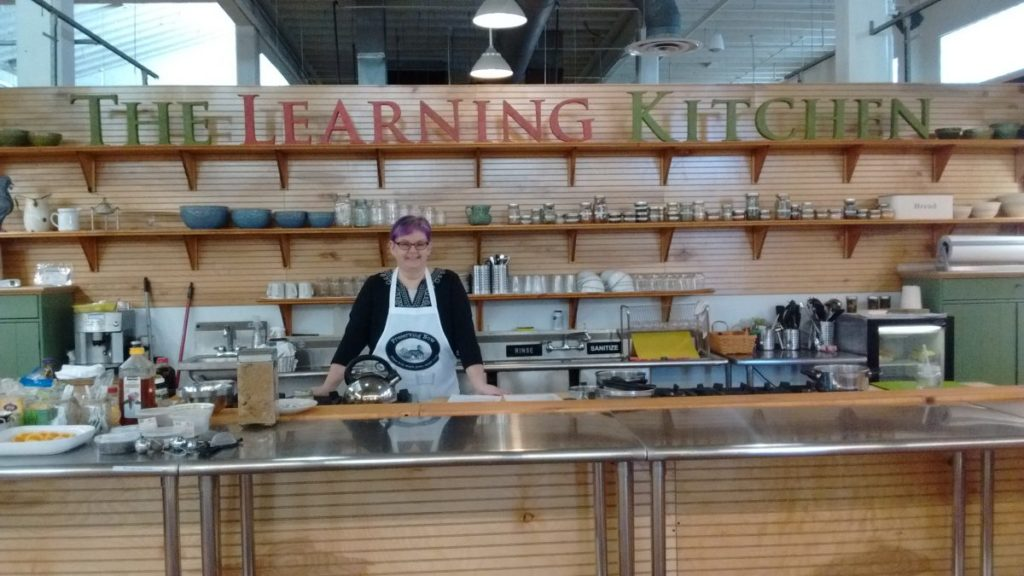 Chef Christy at The Learning Kitchen at Sweet Auburn Market