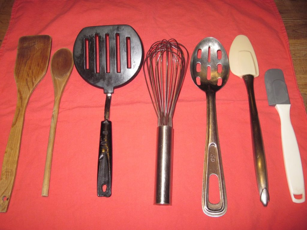 Cooking for Two - Spatulas, Spoons and Whisk for Two